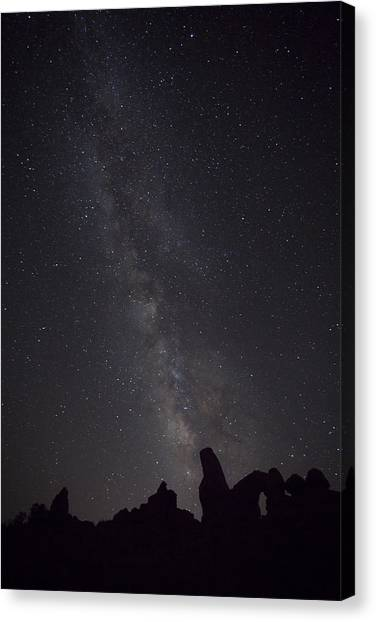 Milky Way Galaxy At Arches National Park Canvas Print
