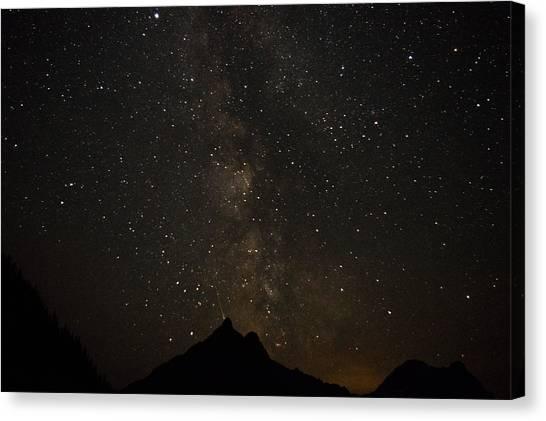 Milky Way, Glacier Nat'l Park Canvas Print