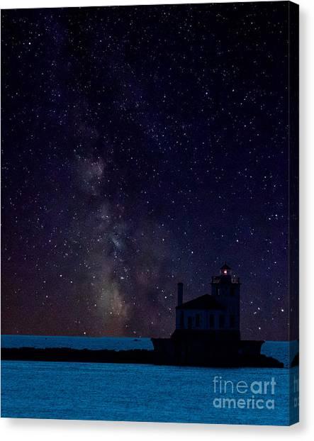 Milky Way Lighthouse Canvas Print