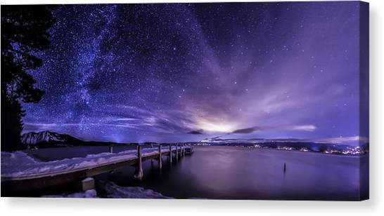 Milky Way Mountains Canvas Print