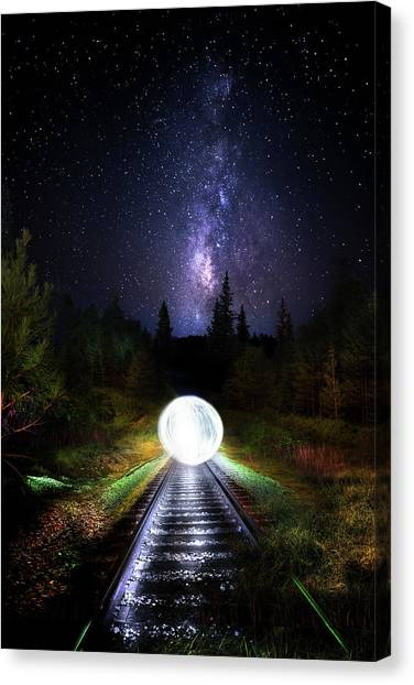 Thomas The Train Canvas Print - Milky Way Orb by Mark Andrew Thomas