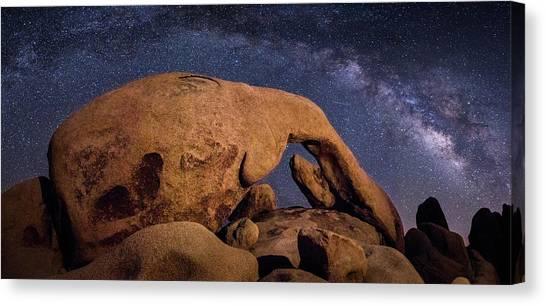 Milky Way Over Arch Rock Canvas Print