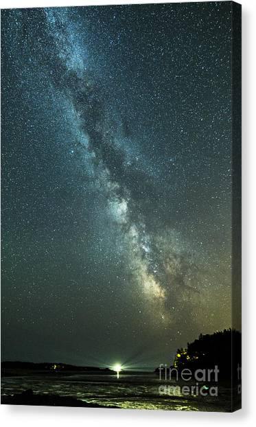 Milky Way Over Clams Flats Canvas Print