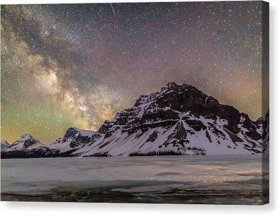 Milky Way Over Crowfoot Mountain Canvas Print