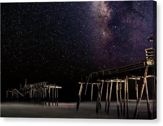Milky Way Over Frisco Canvas Print