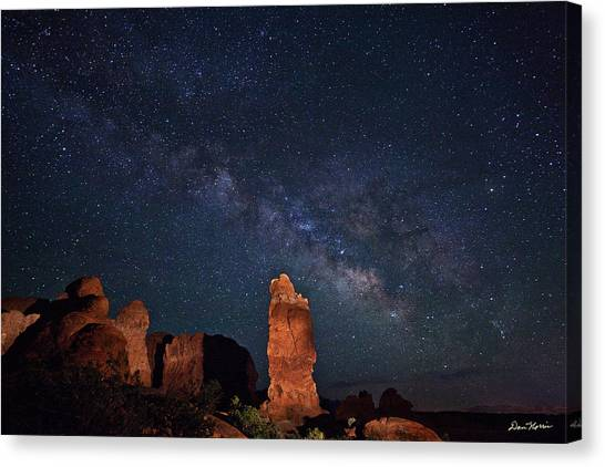 Milky Way Over Garden Of Eden Canvas Print