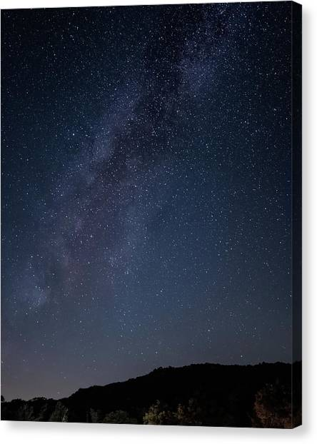 Milky Way Over Lake Henshaw Canvas Print
