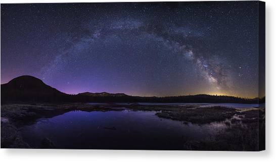 Milky Way Over Lonesome Lake Canvas Print