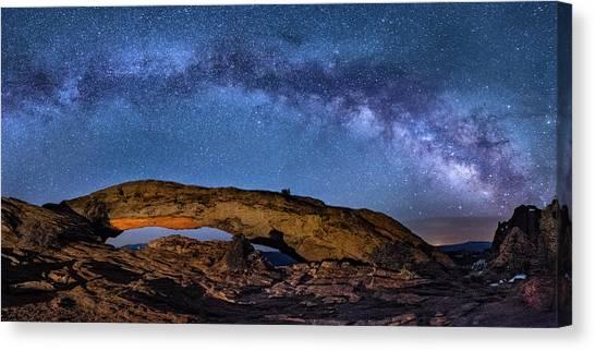 Milky Way Over Mesa Arch Canvas Print