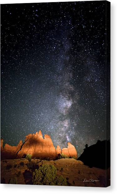 Milky Way Over Navajo Rocks Canvas Print