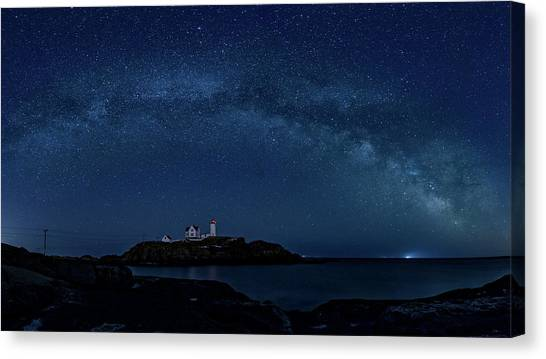 Milky Way Over Nubble Canvas Print