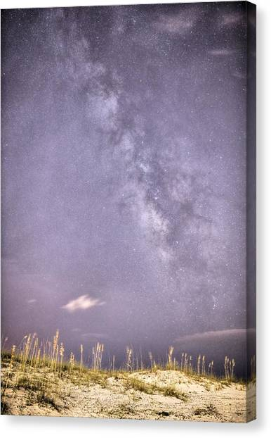 Milky Way Over Pensacola Beach Canvas Print by JC Findley
