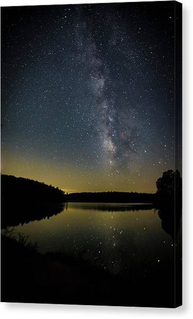 Milky Way Over Price Lake Canvas Print