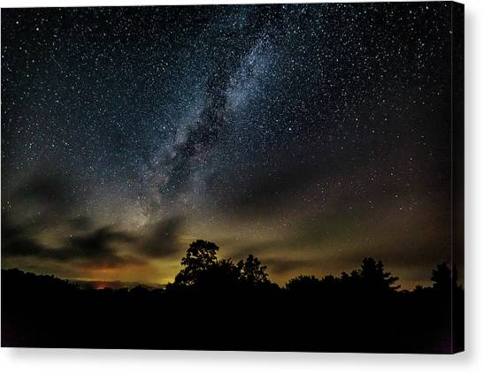 Milky Way Over The Blue Ridge Canvas Print