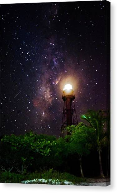 Milky Way Over The Sanibel Lighthouse Canvas Print
