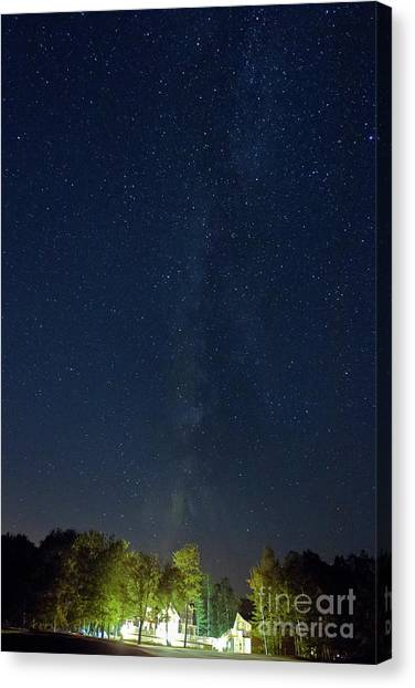 Milky Way Over Vic's Canvas Print by Butch Lombardi