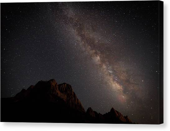 Milky Way Over Zion Canvas Print