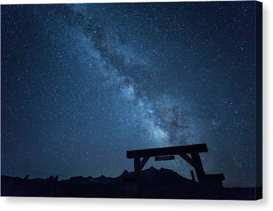 Canvas Print featuring the photograph Milky Way Ranch by Denise Bush