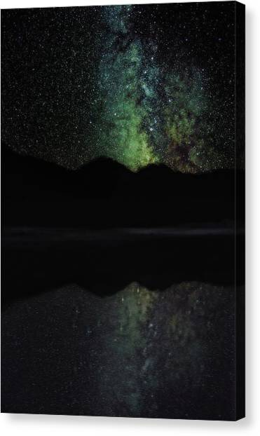 Starry Night Canvas Print - Milky Way Reflection by Jeremy Tamsen