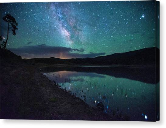 Milky Way Reflections Canvas Print