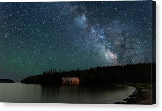 Smokehouses Canvas Print - Milky Way Sky At The Old Smokehouse by Marty Saccone