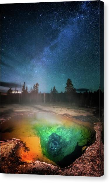 Yellowstone Canvas Print - Milky Way Thermal Pool by Darren White