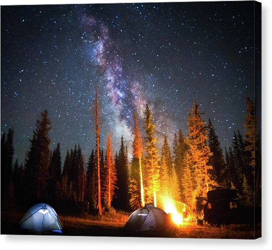 Fire Canvas Print - Milky Way by William Church - Summit42.com