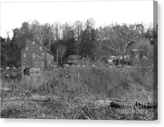 Mill At Clinton Among The Reeds Canvas Print