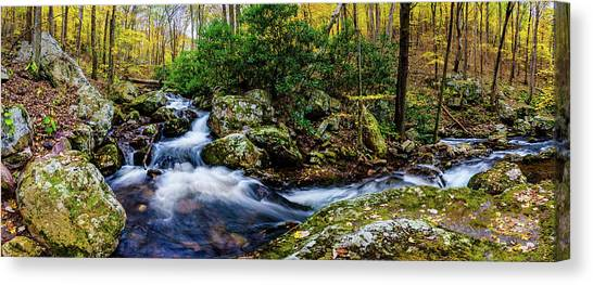 Mill Creek In Fall #4 Canvas Print