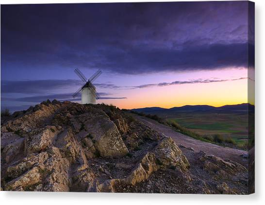 Mill Canvas Print by Glendor Diaz Suarez