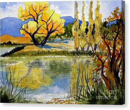 Mill Pond Autumn Canvas Print
