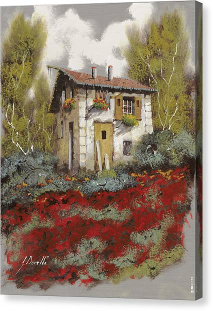 Old Houses Canvas Print - Mille Papaveri by Guido Borelli