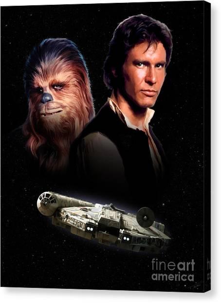 Han Solo Canvas Print - Han Solo - Millenium Falcon by Paul Tagliamonte