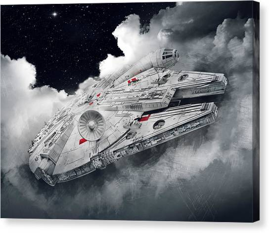 C-3po Canvas Print - Millennium Falcon by Afterdarkness