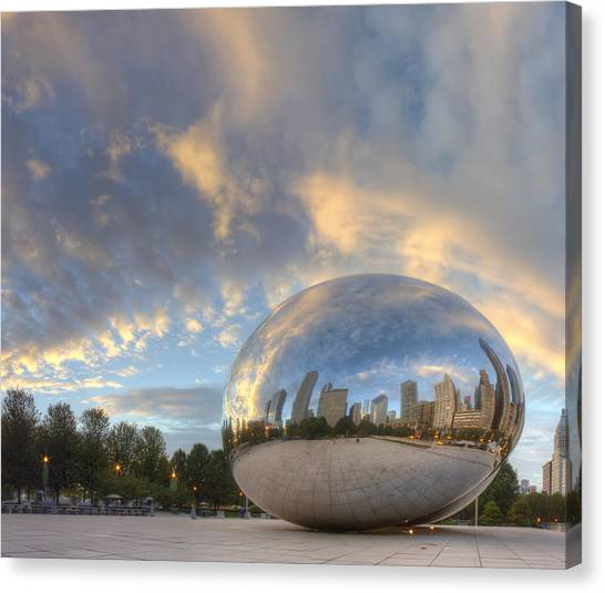 Chicago Canvas Print - Millennium Park In The Morning by Twenty Two North Photography
