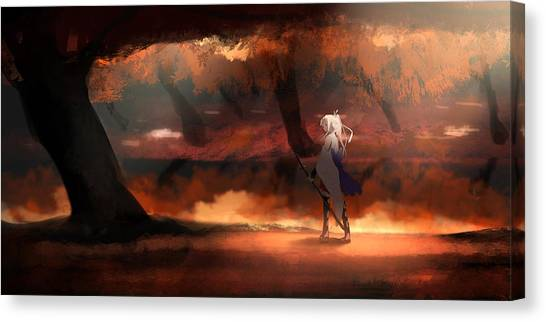 Star Wars Canvas Print - Millennium War Aigis by Maye Loeser