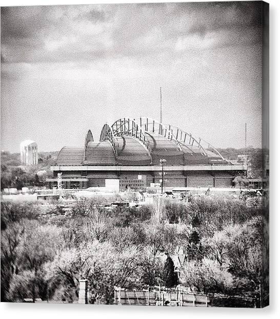 Milwaukee Brewers Canvas Print - Miller Park by Joshua Glidden