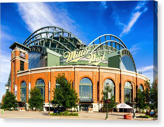 Milwaukee Brewers Canvas Print - Miller Park by Keith Homan