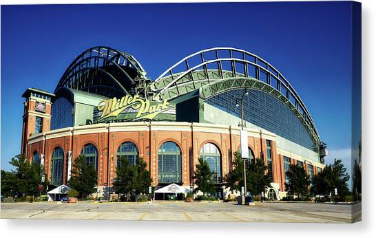 Milwaukee Brewers Canvas Print - Miller Park - Milwaukee Wisconsin by Mountain Dreams