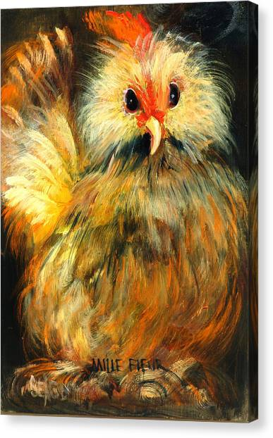 Chicken Farms Canvas Print - Millie by Sally Seago