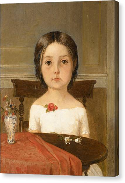 Pre-raphaelite Art Canvas Print - Millie Smith by Ford Madox Brown