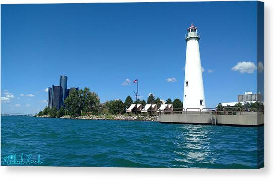 Canvas Print - Milliken State Park Lighthouse by Michael Rucker