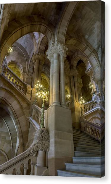 Million Dollar Staircase Canvas Print