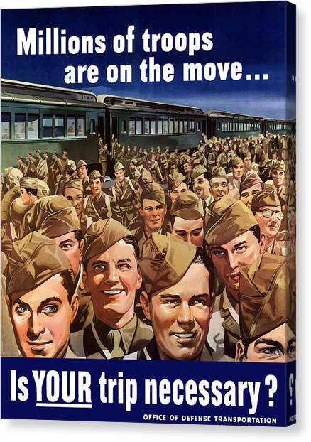 Art Movements Canvas Print - Millions Of Troops Are On The Move by War Is Hell Store