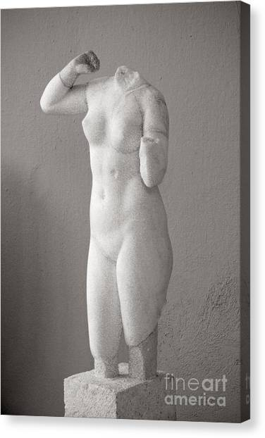 Milos Sculpture Canvas Print by Lionel F Stevenson