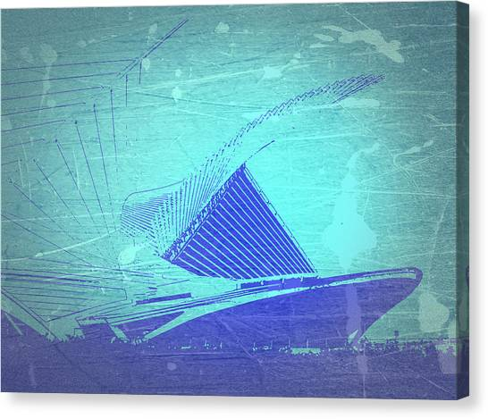 Milwaukee Canvas Print - Milwaukee Art Museum by Naxart Studio