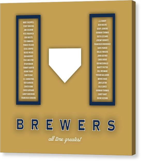 Milwaukee Brewers Canvas Print - Milwaukee Brewers Art - Mlb Baseball Wall Print by Damon Gray