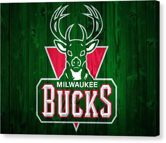 Milwaukee Bucks Canvas Print - Milwaukee Bucks Barn Door by Dan Sproul