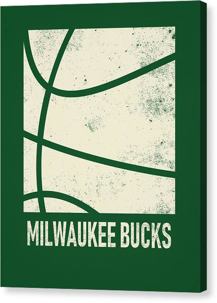 Milwaukee Bucks Canvas Print - Milwaukee Bucks City Poster Art 2 by Joe Hamilton