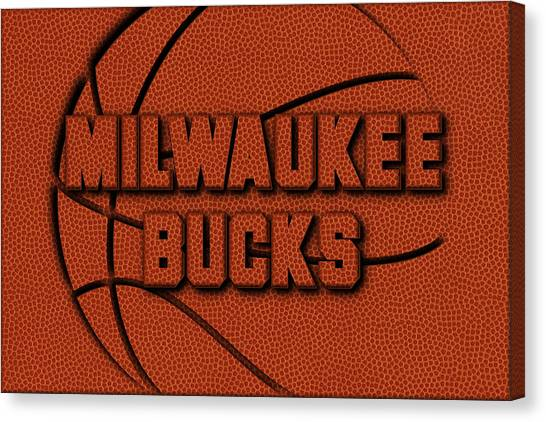 Milwaukee Bucks Canvas Print - Milwaukee Bucks Leather Art by Joe Hamilton